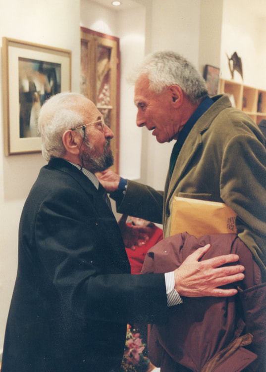 Frantzis Frantzeskakis with his dear friend, celebrated artist and member of the Academy of Athens P. Tetsis